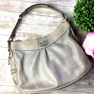 Authentic COACH Taupe & Grey Madison Shoulder Bag